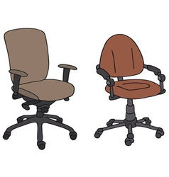 Office armchairs vector