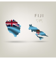 Flag of fiji as a country with a shadow vector