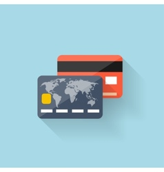Flat web icon bank card vector