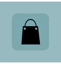 Pale blue shopping bag icon vector
