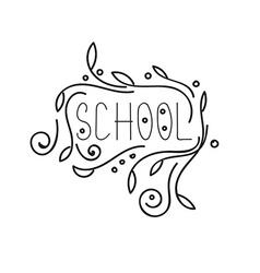 Back to school calligraphic designs vintage vector