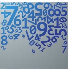 Abstract blue gradient extruded random numbers on vector