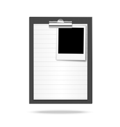 Clipboard paper and photo vector