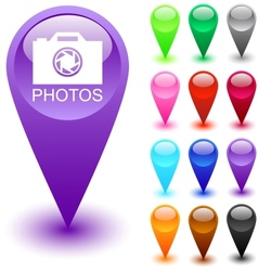 Photos button vector