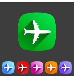 Airplane plane flat icon vector image vector image