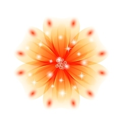 background with yellow flowers EPS 10 vector image
