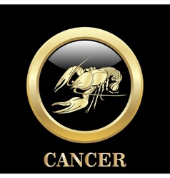 Cancer zodiac sign in circle frame vector