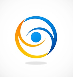 Circle vision eye abstract logo vector