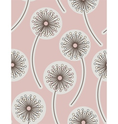 dandelion seamless floral background vector image vector image