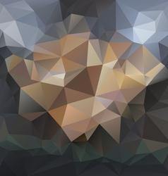 Dark black gray blue polygonal triangular pattern vector