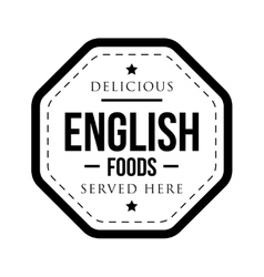 Delicious English Foods vintage stamp vector image vector image