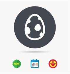 dinosaur egg icon birth symbol sign vector image