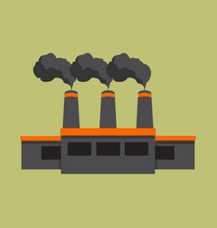 Factory building mining graphic vector