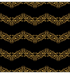 Golden vintage seamless pattern with lot of vector