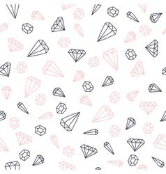 Hand drawn diamonds seamless pattern vector