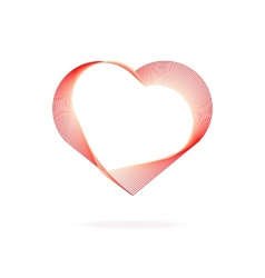 Heart red lines Valentines Day vector image vector image
