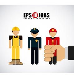 Jobs design vector