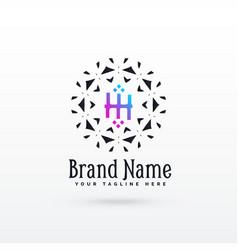 letter h logo concept design template vector image vector image