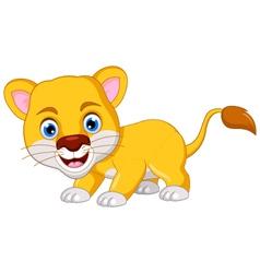 lion cartoon posing vector image