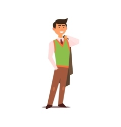 Man in vest vector