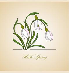 Modern logo hello spring vector