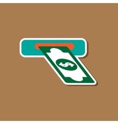 Paper sticker on stylish background dollar money vector