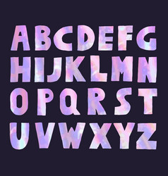 pink and violet holographic font vector image