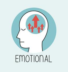 Profile human head emotional brain vector