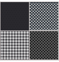 Set of four backgrounds Abstract dotted and metal vector image vector image