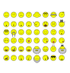 simple yellow smilies vector image vector image