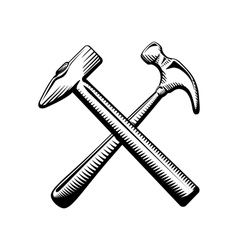 Two crossed hammers symbol vector image vector image
