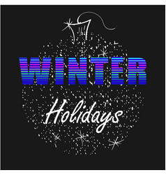 Winter holidays neon letters with christmas ball vector