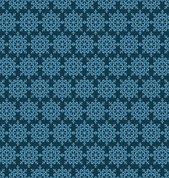 Snowflake seamless pattern design template vector