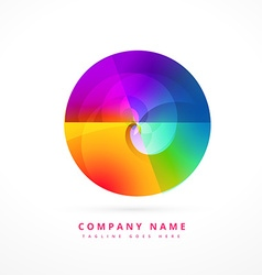 colorful circle shape design art vector image