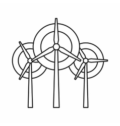 Wind generator turbines icon outline style vector