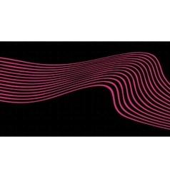 Wave Pink lines on black background Abstract vector image
