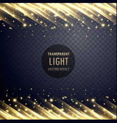 Transparent light effect with sparkling effect vector