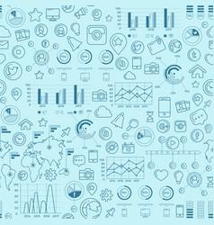 Social media blue seamless pattern vector