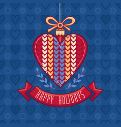 Christmas greeting card ornament decorate vector