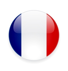 Round icon with flag of france vector