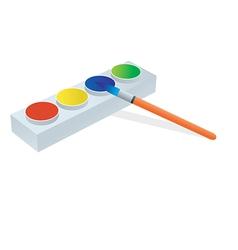 watercolors vector image