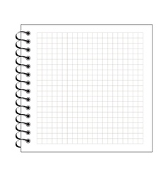 Blank spiral notepad paper vector