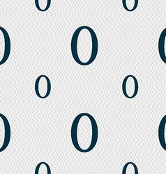 Number zero icon sign seamless pattern with vector