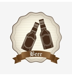 Refreshing beer design vector