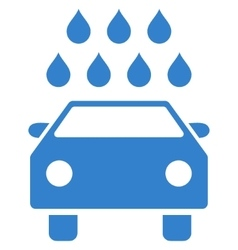 Car shower flat symbol vector