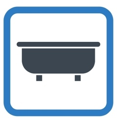 Bathtub flat icon vector