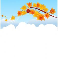maple branch vector image