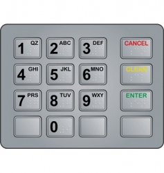 atm keypad vector image