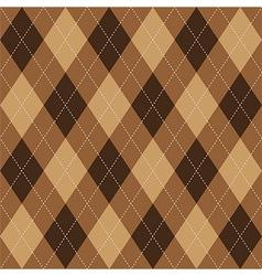 Argyle pattern brown rhombus seamless texture vector image vector image