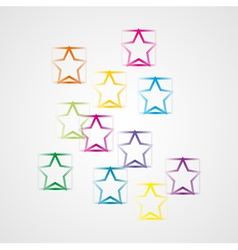 background with squares and stars vector image vector image